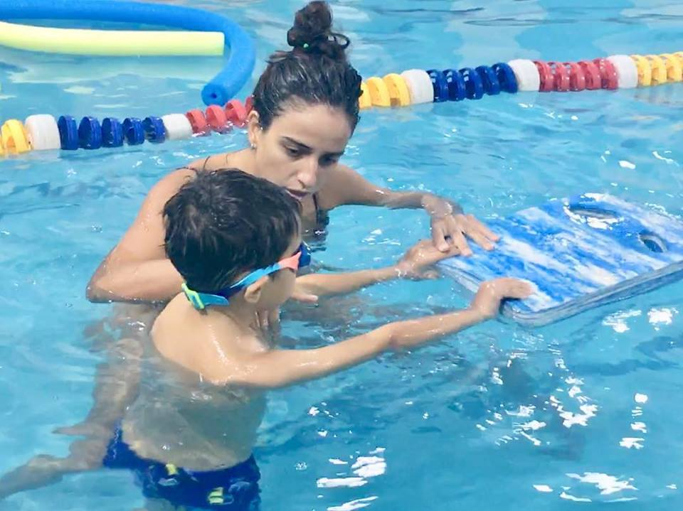 Our Parents & Tots swimming lessons are a fun introduction to swimming for babies as young as 3 months to as old as 24 months.